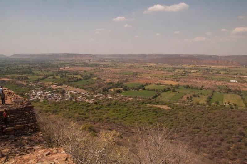 Vue sur la campagne en Inde