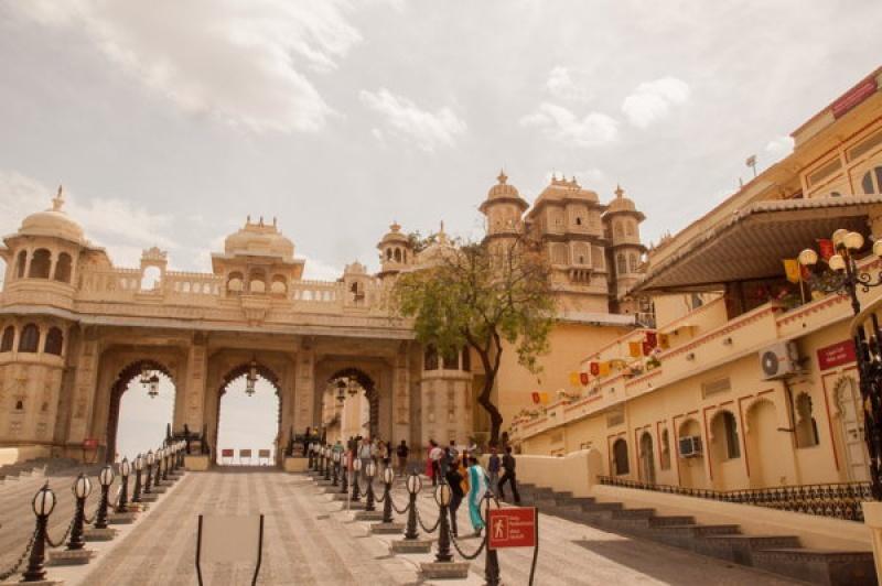 L'entrée du City-Palace à Udaipur en Inde