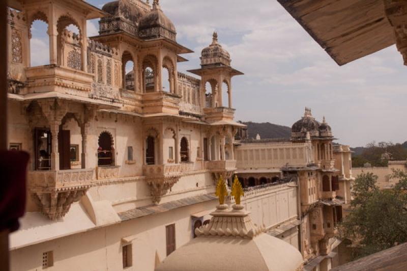 On visite chacun des palais du City-Palace à Udaipur en Inde