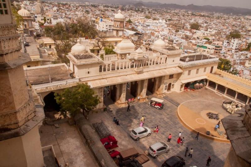 Vue sur la ville d'Udaipur en Inde
