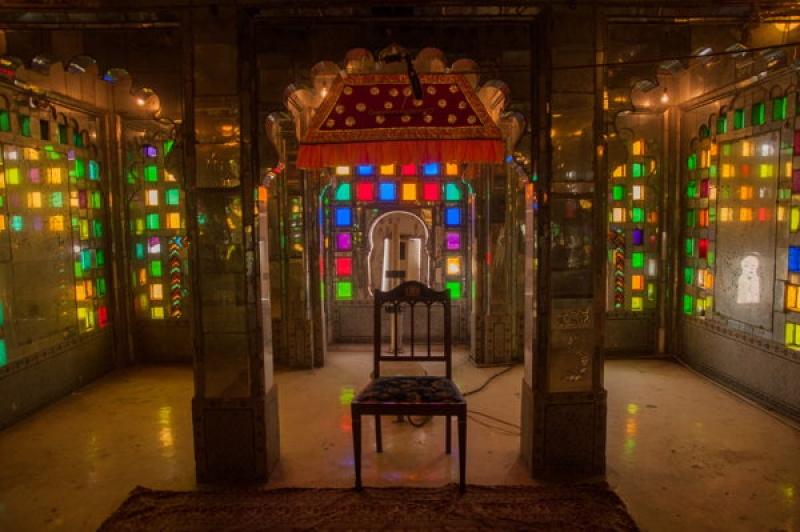 Dans le city-palace à Udaipur en Inde