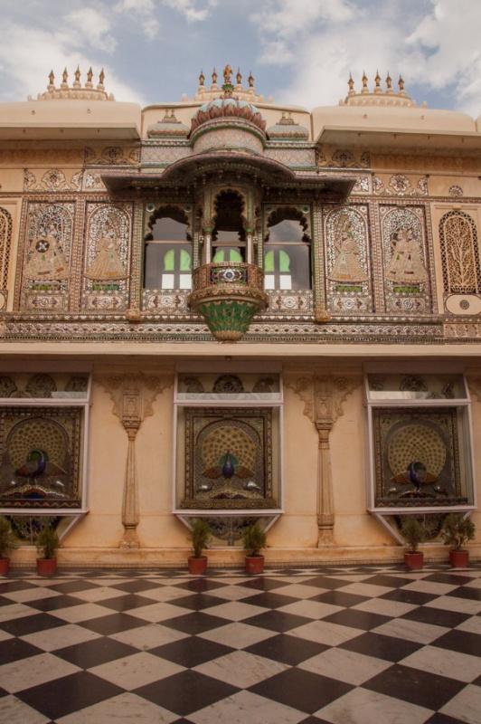 C'est sublime dans le City-Palace à Udaipur en Inde