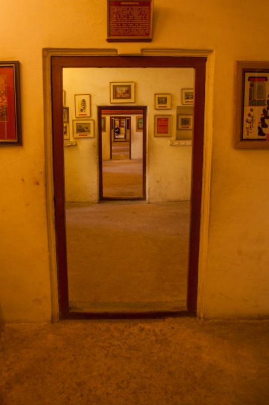 Chaque pièce montre un intérêt au city-palace à Udaipur en Inde