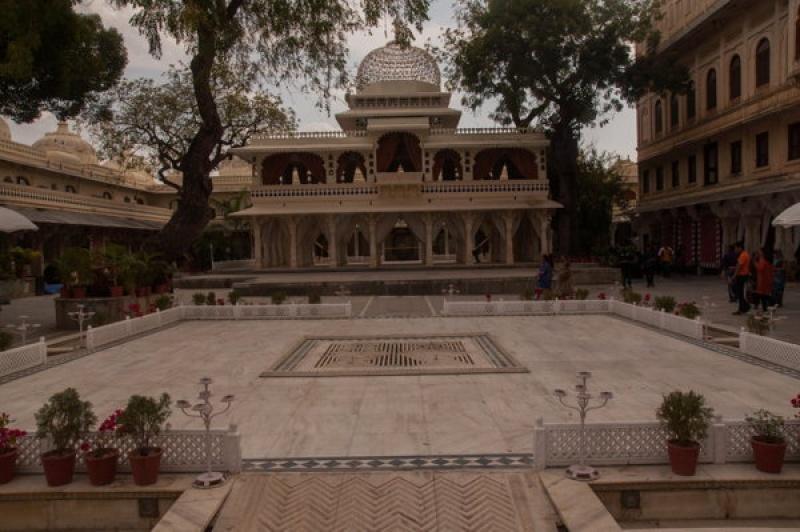 La fin de la visite du City-palace à Udaipur en Inde