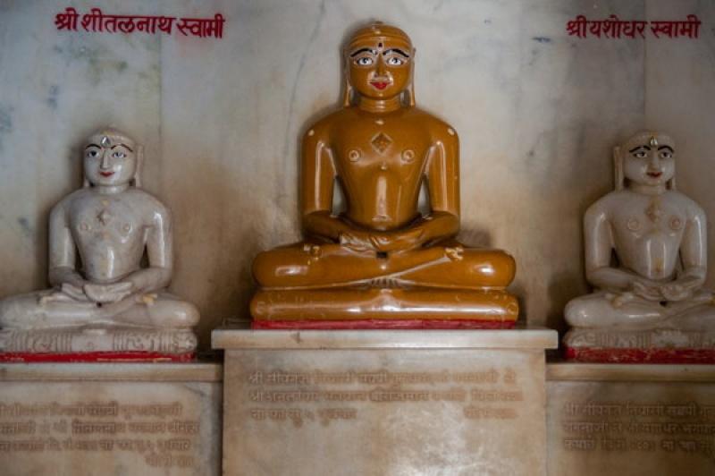 Un bouddha à Ranakpur en Inde