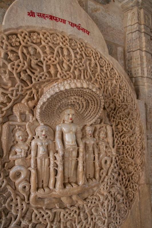 Des divinités sacrées à Ranakpur en Inde