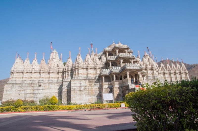 Vue extérieure de Ranakpur en Inde