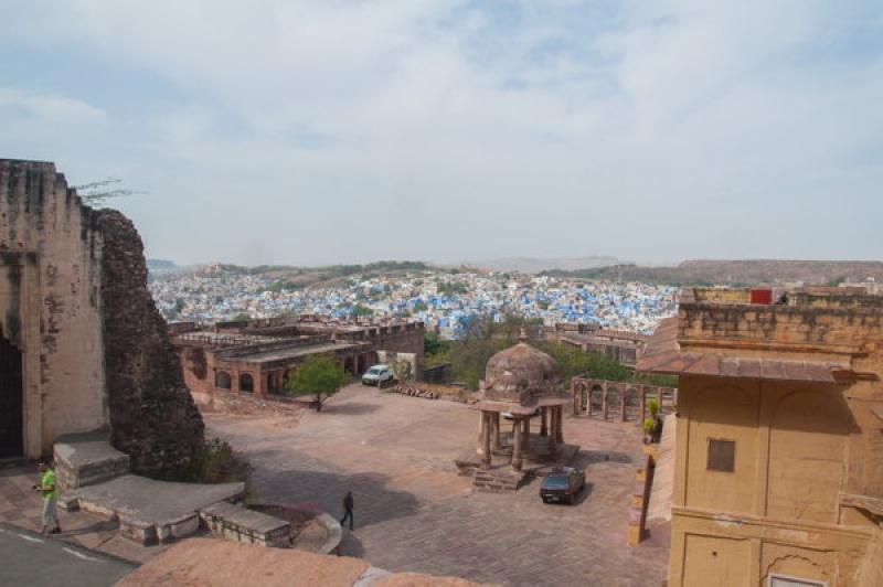 A l'intérieur du fort de Jodhpur