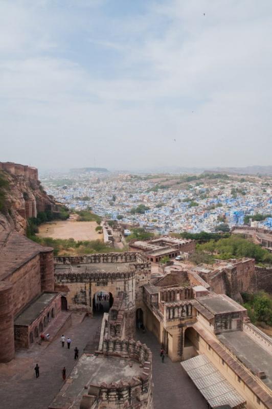 3 niveaux de protection pour le fort de Jodhpur en Inde
