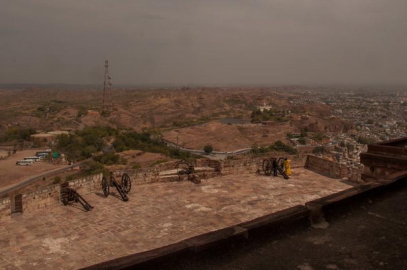 La place aux canons de Jodhpur en Inde