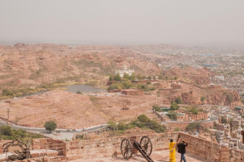 Vue sur les extérieurs de la ville de Jodhpur en Inde