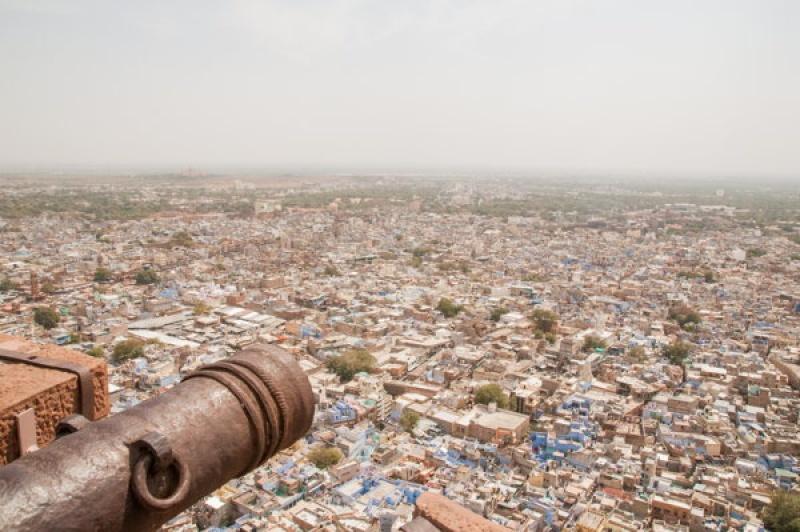 Les canons du fort de Jodhpur en Inde