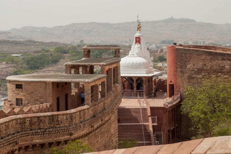 La muraille du fort de Jodhpur en Inde