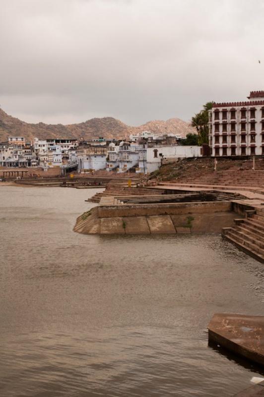 Les ghats à Pushkar en Inde