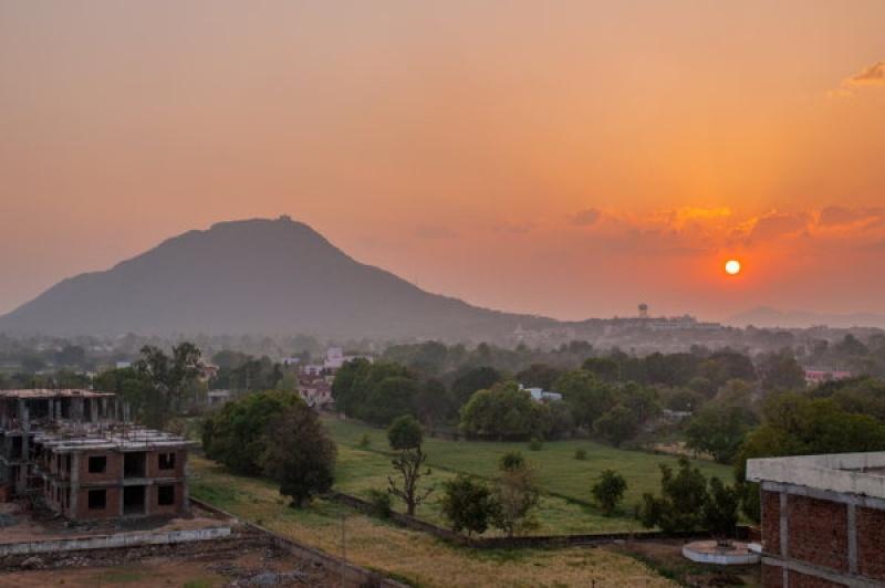 Coucher de soleil à Pushkar en Inde