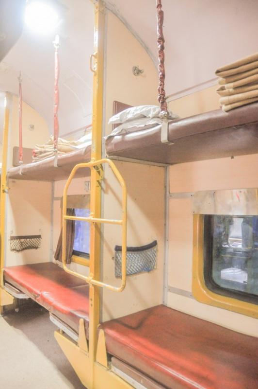 Dans le train en Inde