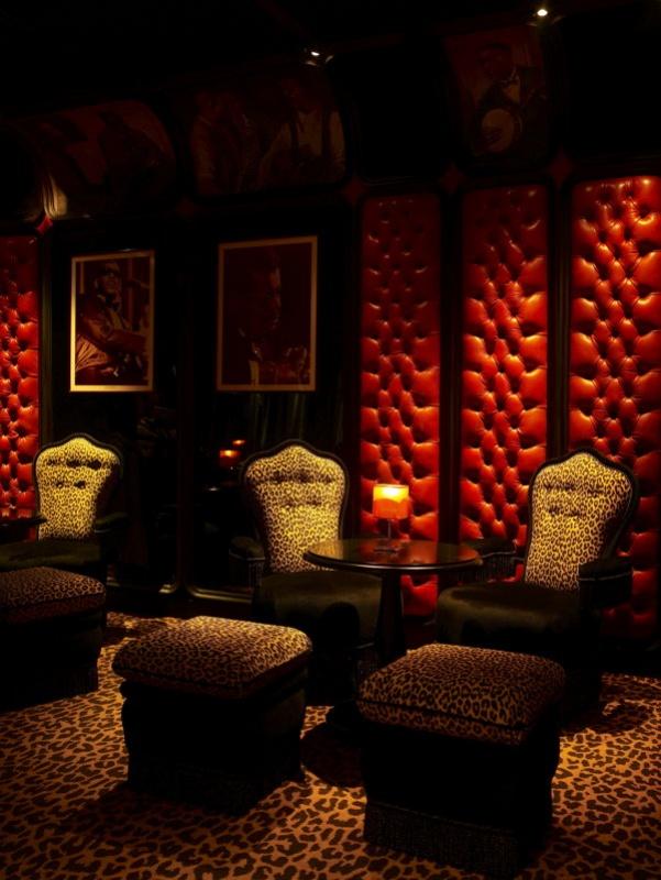 Les salons du bar lounge de la Mamounia à Marrakech