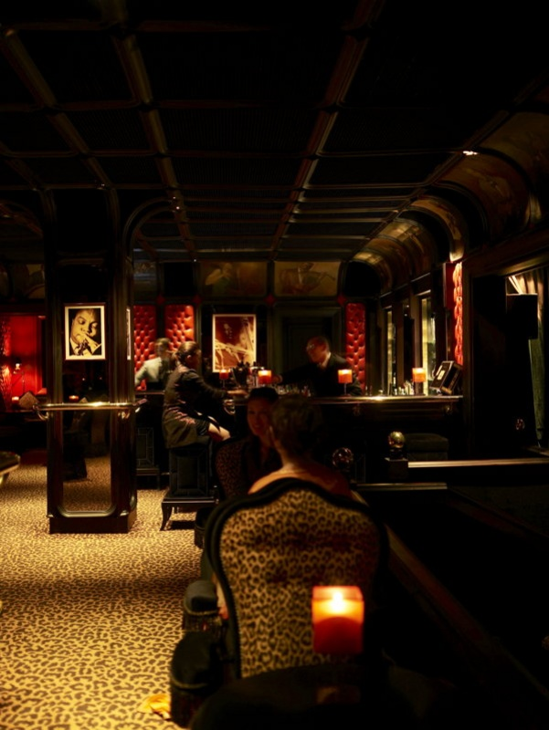 Dans le bar lounge de la Mamounia à Marrakech