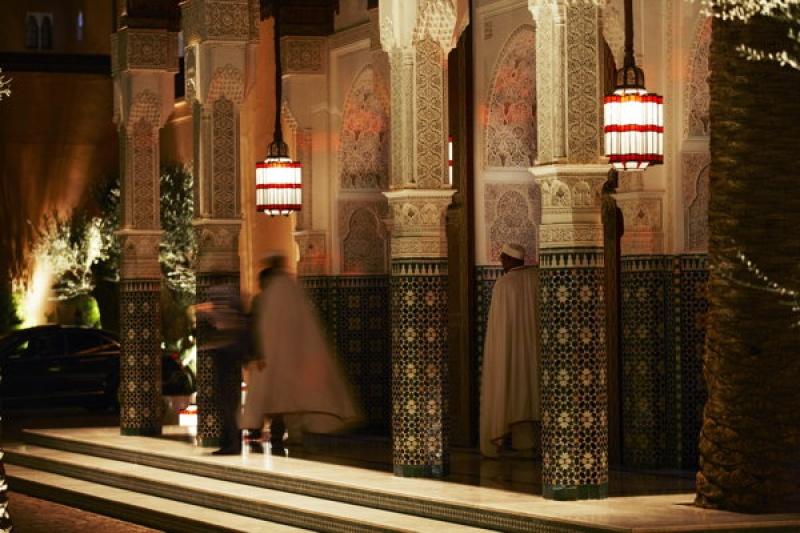 L'entrée de la Mamounia à Marrakech