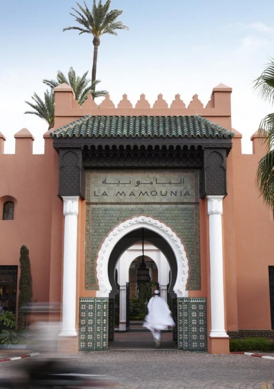 La façade extérieure de la Mamounia à Marrakech
