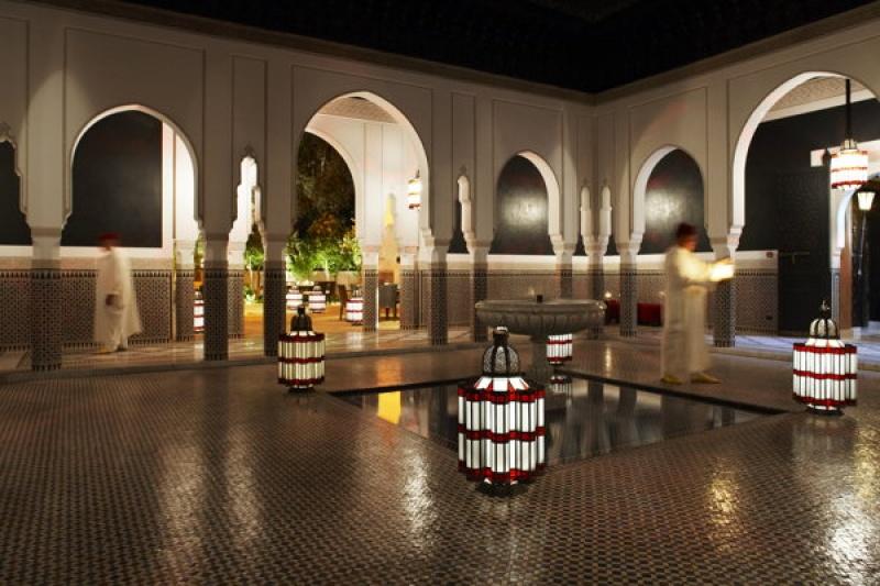 Le spa du bain à remous à la Mamounia à Marrakech