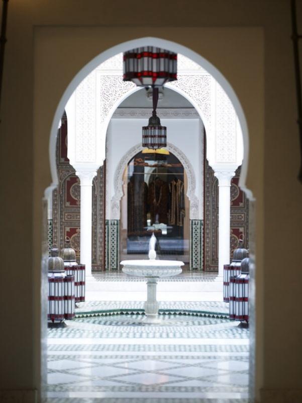 Dans un autre patio de la Mamounia à Marrakech