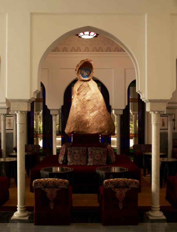 Dans le lobby de la Mamounia à Marrakech