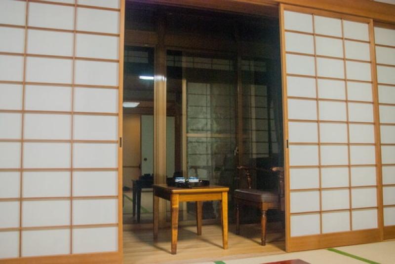 Notre chambre d'hôtel traditionnel au Mont Fuji au Japon