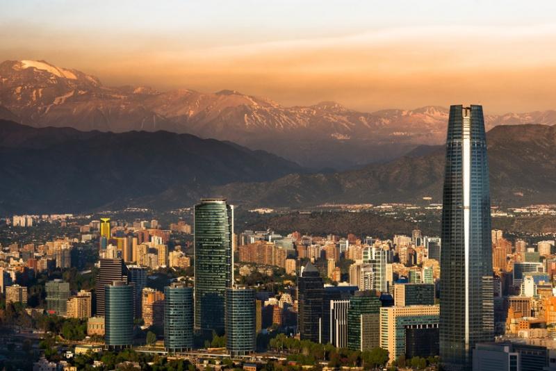 Vue sur Santiago del Chili