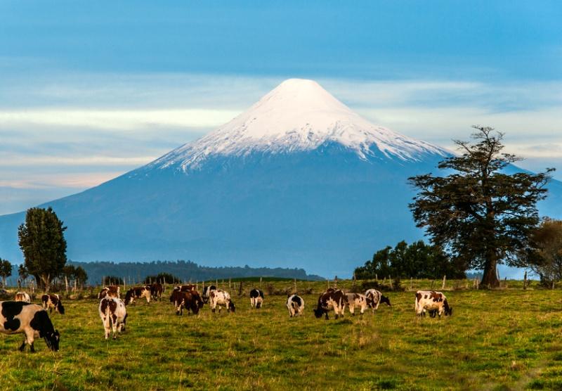 Un volcan dans la région de Pucon