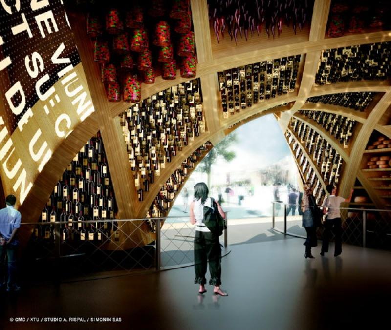 Un des espaces thématiques à l'expo internationale de Milan