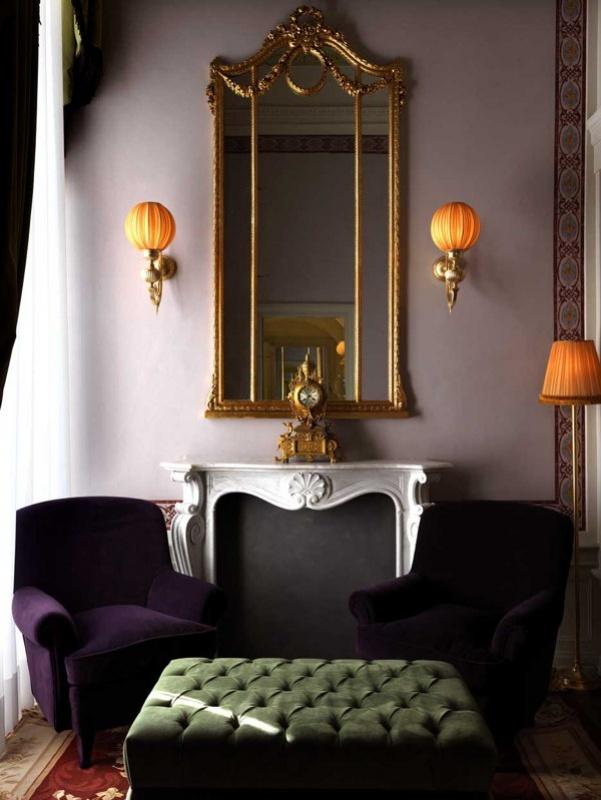 Le salon de la suite de la villa Cora à Florence