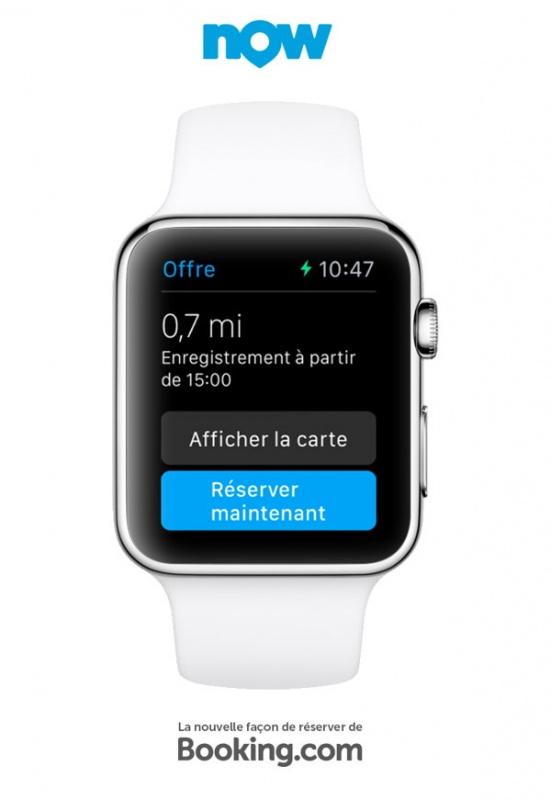 L 39 apple watch pour r server votre h tel avec booking for Reserver hotel pour ce soir