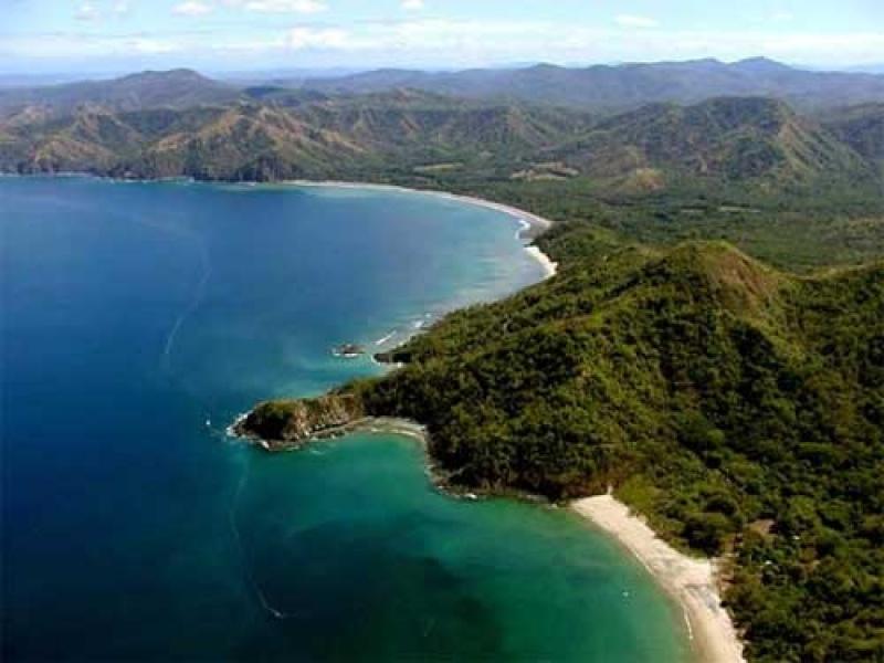 Vue depuis l'avion au Costa Rica