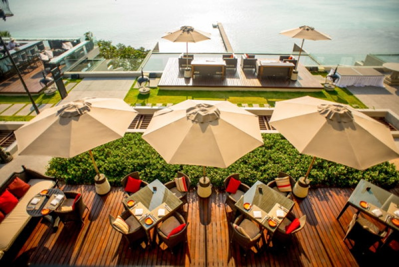 Terrasse de rêve en Thaïlande