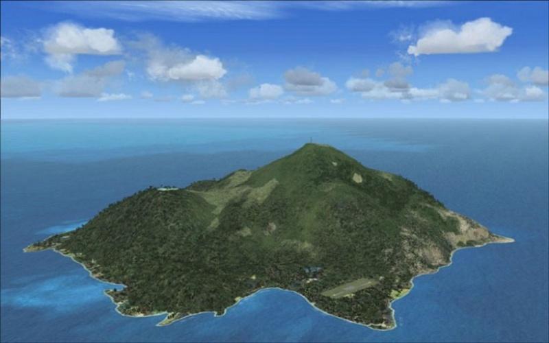 L'île de Saba dans les Caraïbes