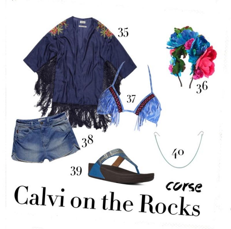 Look Calvi on the rocks