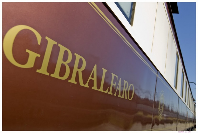 La signature d'un train en Espagne