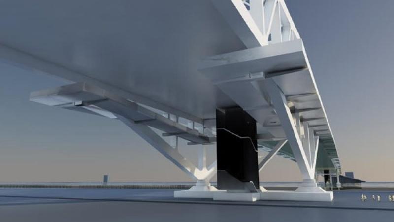 Vue du pont design en Chine
