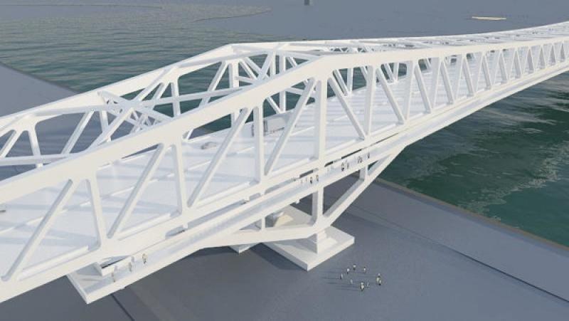 Structure métallique du pont design en Chine