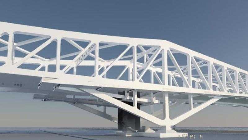 Un pont design blanc en Chine