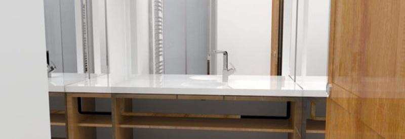 Espace salle de bain privative au Grand Atlantic Hôtel à Arcachon