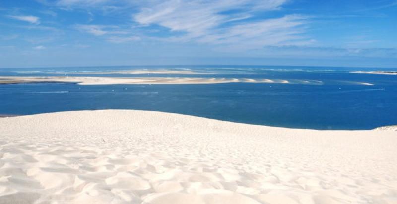 La plage de sable blanc à Arcachon