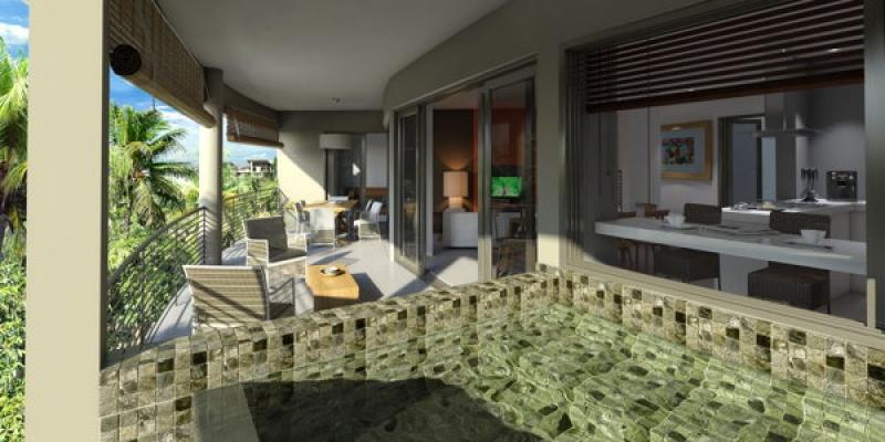 D'agréables terrasses à Azuri sur l'île Maurice