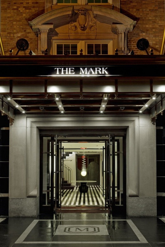 L'entrée majestueuse du Mark Hotel à New York