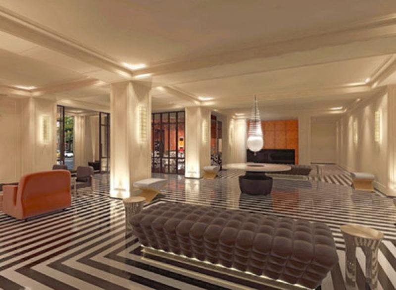 Espace lumineux dans l'entrée du Mark Hotel à New York