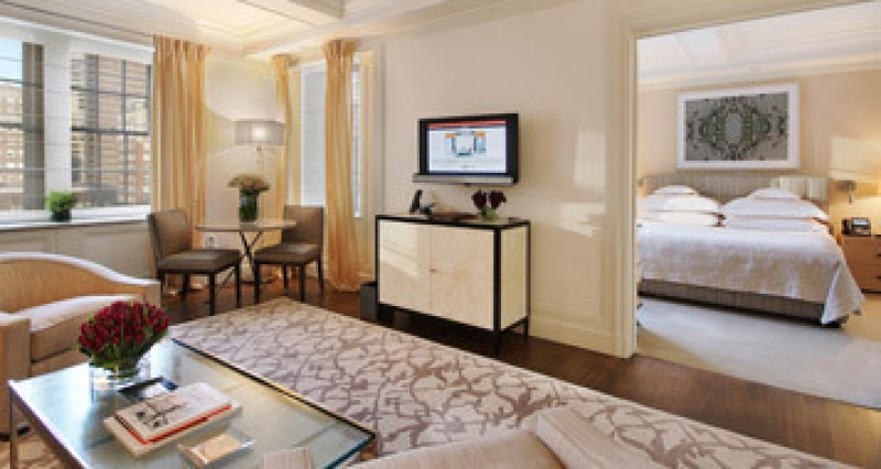 Dans la suite présidentielle du Mark Hotel à New York