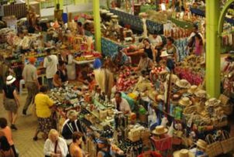 Sur le marché de Tahiti