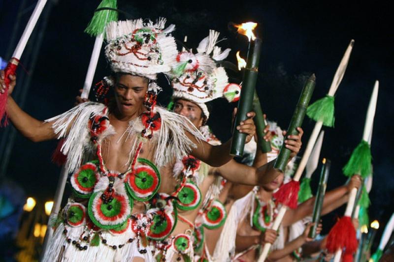 Danse traditionnelle à Papeete