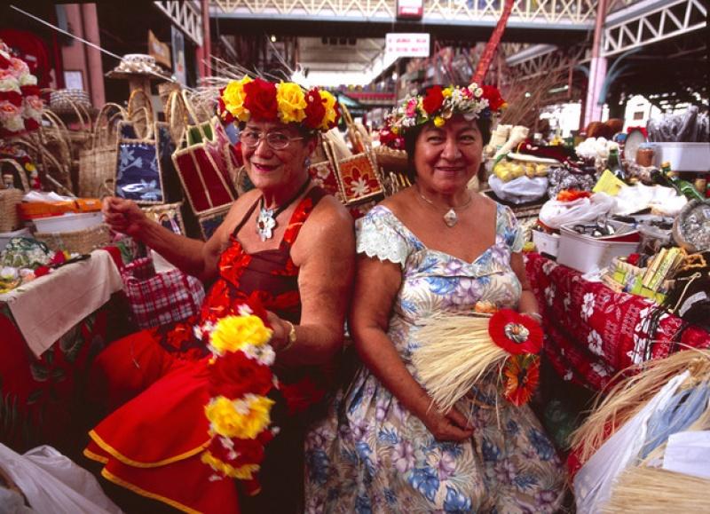 Au marché à Papeete